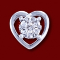 Přívěsek zlatý,  diamanty, srdce