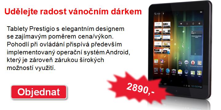 TIP na vánoční dárek: tablet Prestigio za cenu již od 2890,-