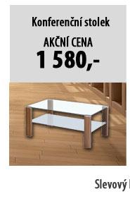 Konferenční stolek JAGO, ořech/sklo