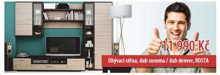 Obývací stěna ROSTA, dub sonoma / dub denver