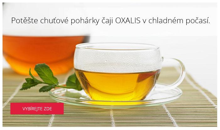 Potěšte chuťové pohárky čaji OXALIS v chladném počasí.
