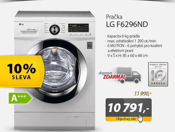 Automatická pračka LG F6296ND bílá