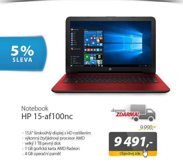 Notebook HP 15-af100nc červený