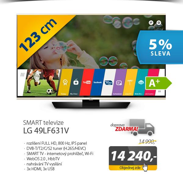 Televize LG 49LF631V černá/zlatá