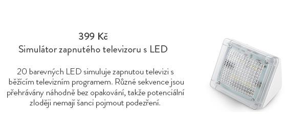 Simulátor zapnutého televizoru s LED