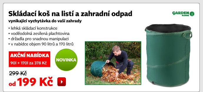 Skládací koš na listí a zahradní odpad
