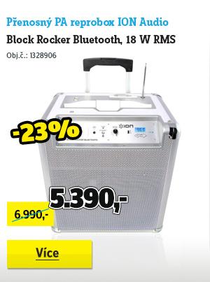 Přenosný PA reprobox ION Audio Block Rocker Bluetooth