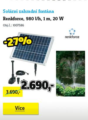 Solární zahradní fontána Renkforce