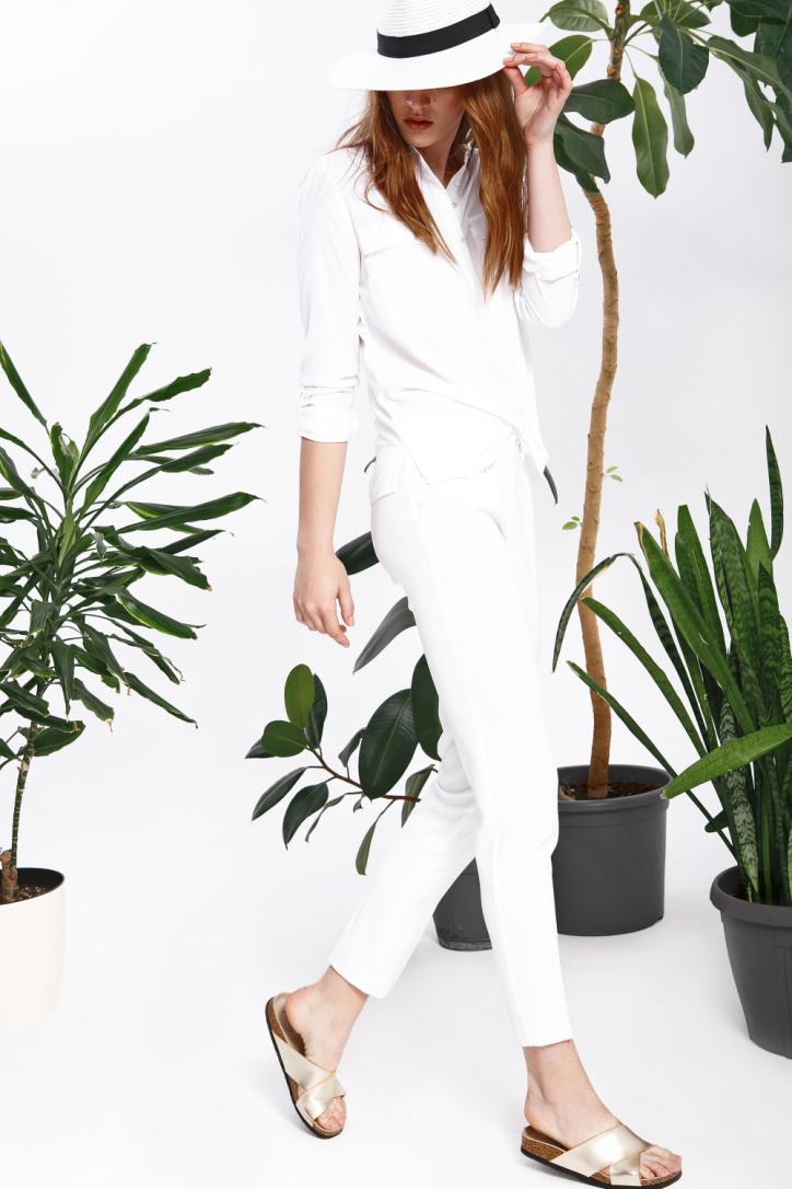 Kalhoty dámské bílé