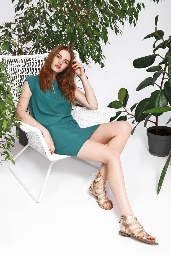 Šaty zelené krátký rukáv
