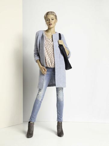 Kabát dámský šedý