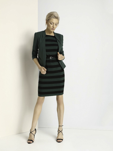 Šaty bez rukávu zelené