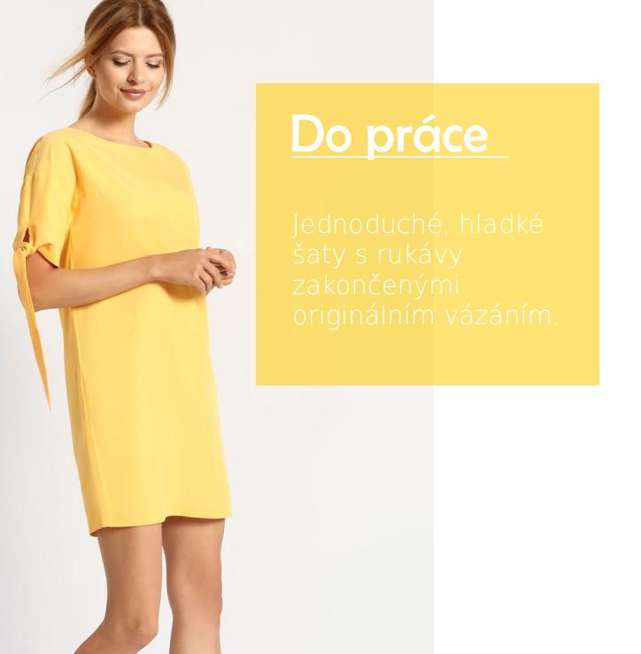 Šaty krátký rukáv žluté