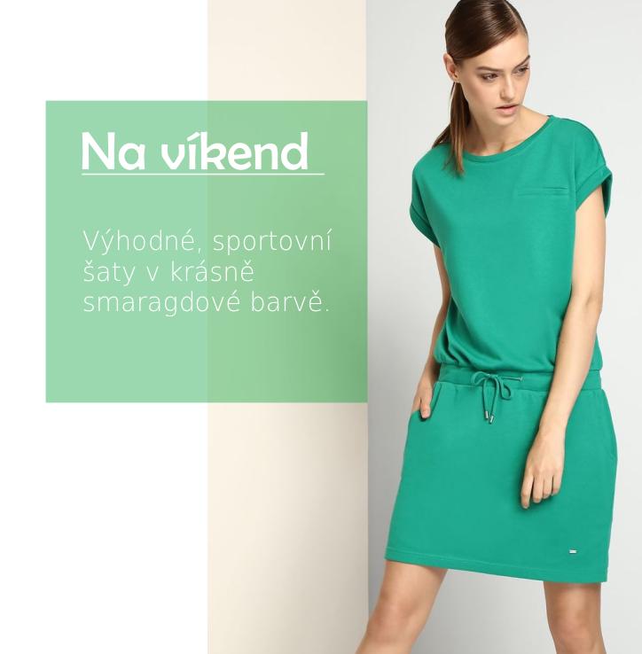 Šaty sportovní zelené