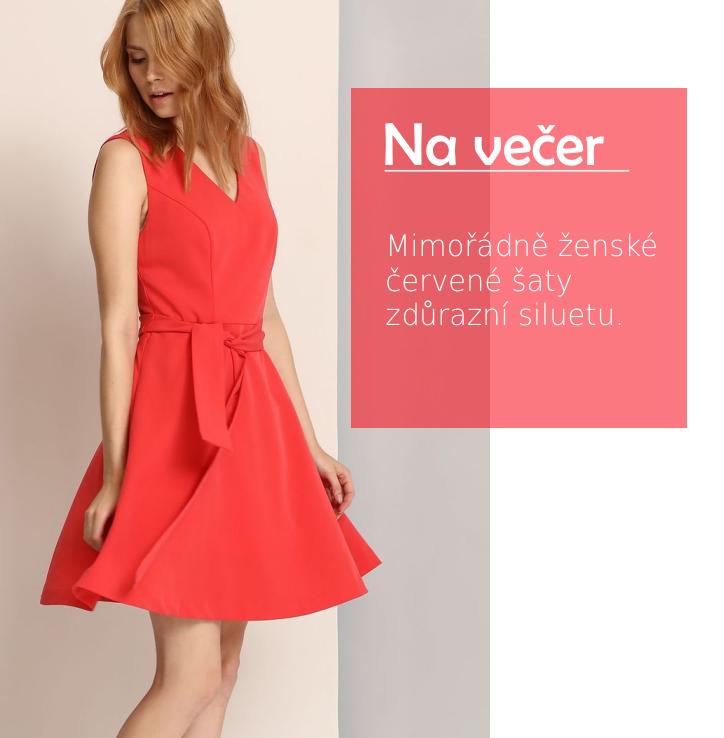 Šaty bez rukávu červené