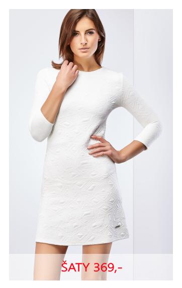 Šaty krátké bílé