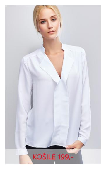 Košile dámská dlouhý rukáv bílá