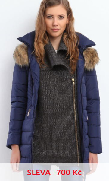 Kabát dámský modrý