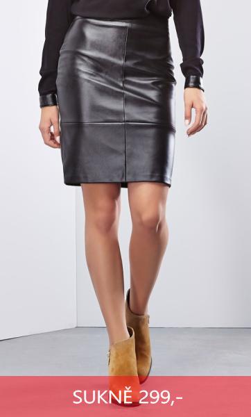 Sukně nad kolena černá