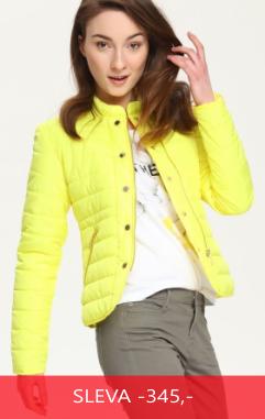 Bunda dámská prošívaná žlutá