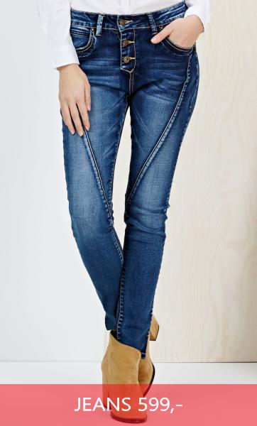Dámské džíny úzké modré