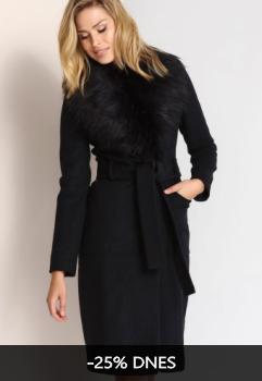 Kabát dámský s kožíškem